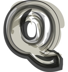 Abstract letter q vector