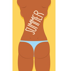 Bikini Sexy Girl Ass in panties Summer vector image