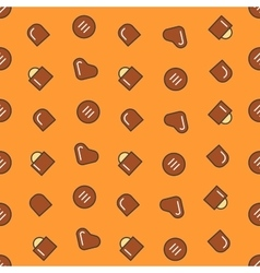 Chocolate Candies Seamless Pattern Background vector image vector image