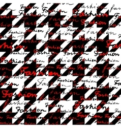 Classic hounds-tooth pattern vector