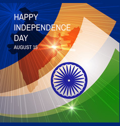 Congratulation happy independence day with map and vector