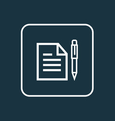 contract outline symbol premium quality isolated vector image vector image