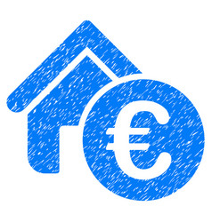 Euro home rent grunge icon vector