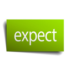 Expect green paper sign isolated on white vector