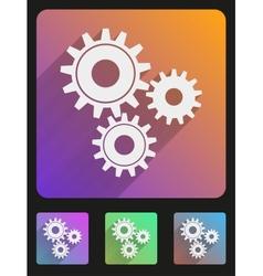 Flat icon set mechanic gears vector image vector image
