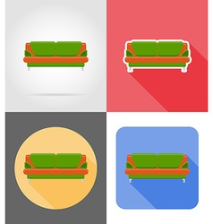 furniture flat icons 04 vector image vector image