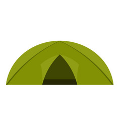 Green tent for camping icon isolated vector
