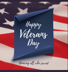 Happy veterans day background template vector