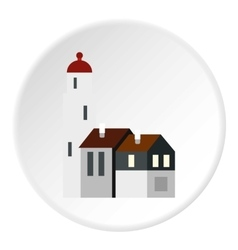 Houses icon flat style vector image