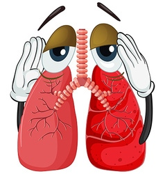 Human lung with cancer vector image vector image