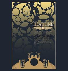 industrial brochure template design vector image