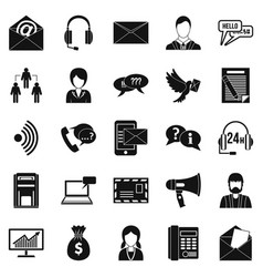 Interaction icons set simple style vector