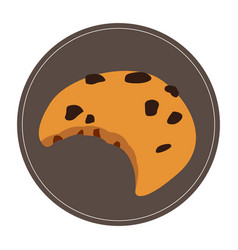 Isolated cookie icon vector