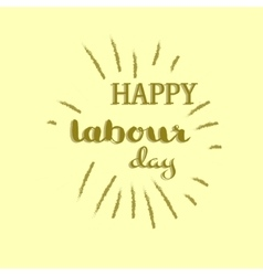 Labour day concept vector