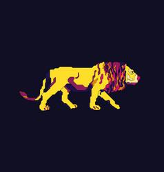 lion walk vector image vector image