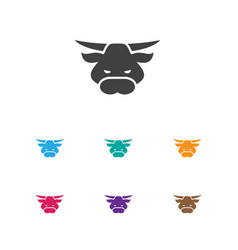 of animal symbol on bull icon vector image vector image