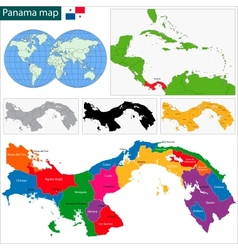 Panama map vector
