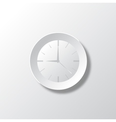 Paper White Time vector image vector image