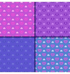 pastel set of heart patterns vector image vector image