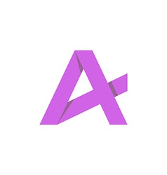 Purple letter a mockup business logo graphic icon vector
