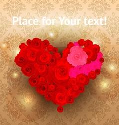 Rose Heart Valentine vector image