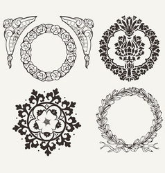 Set of four circle elements vector