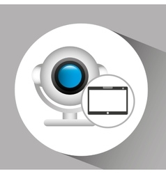 tablet pc technology web camera vector image