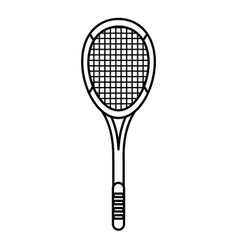 Tennis racket equipment image outline vector