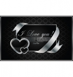vector background with the hearts vector image vector image