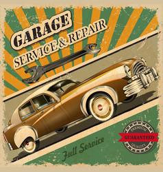 vintage garage retro poster vector image