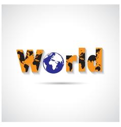 World maps symbol vector