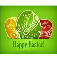 easter eggs background 10 v vector image