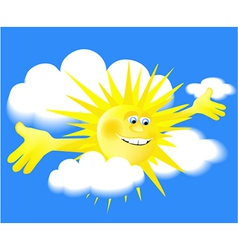 Holiday sun vector
