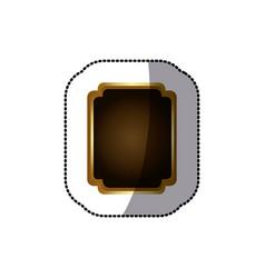 sticker golden border with decorative heraldic vector image