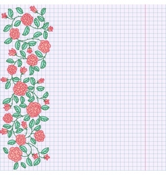 doodle rose border vector image