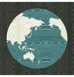 Wooden world shape concept vector