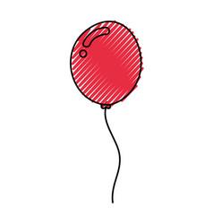decorative party balloon air vector image