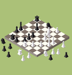 Chess isometric game isometric series vector