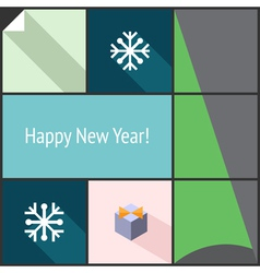 New year flat interface vector