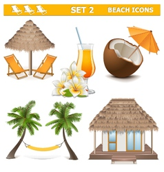 Beach Icons Set 2 vector image