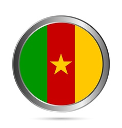 Cameroon flag button vector