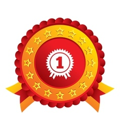 First place award sign icon prize for winner vector