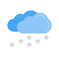 Light snowing vector