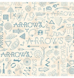 Seamless pattern with doodle arrows vector