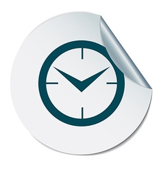 Clock icon watch symbol time vector