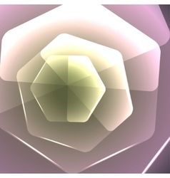 abstract background with hexagonal flower vector image