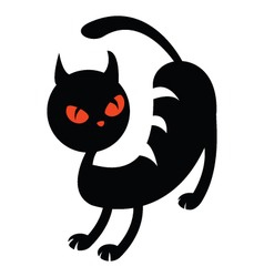 Illustration of a black cat vector