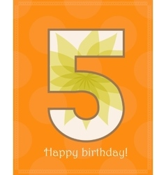 Happy birthday five card vector