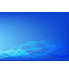 Abstract yellow background blue wave design vector