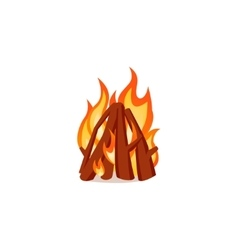 Campfire isolated on white background Bright vector image